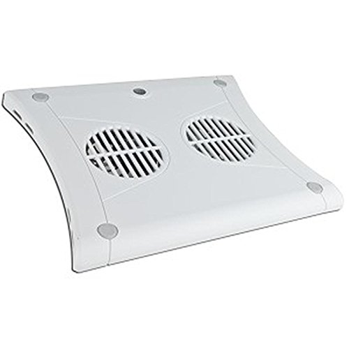 Targus PA248U3W Chill Mat Notebook Cooler Pad w/2 80mm Fans (White) - Keep your Notebook or Netbook Cool! ()