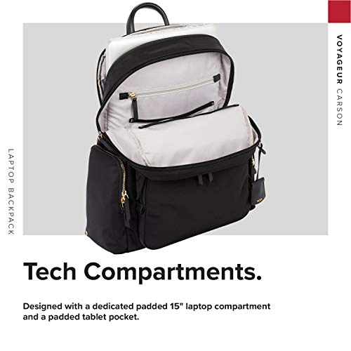 TUMI – Voyageur Carson Laptop Backpack – 15 Inch Computer Bag for Women – Black
