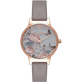 d0ebe05d7dec  Clock Olivia Burton Enchanted Garden London Grey   Rose Gold