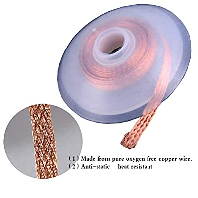 PINCHUANG 10PCS Solder Wick, Desoldering Wick, Solder Braid, Copper Solder 1.5mm Width, 15m (15ft) length