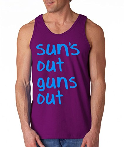 New Way - 203 Men's Tank-Top Sun's Out Guns Out 22 Jump Street 3XL Purple
