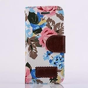 ZCL-Impresión floral de la PU cuero caso de cuerpo completo multi-fonction con el soporte para el iphone 5 / 5s