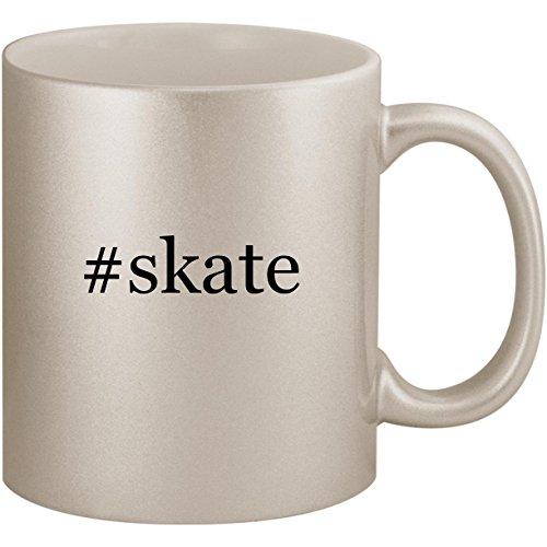 In Hockey Gloves Line (#skate - 11oz Ceramic Coffee Mug Cup, Silver)