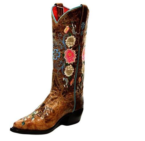 Macie Bean Western Boots Womens Rose Garden Floral 8.5 B Tan