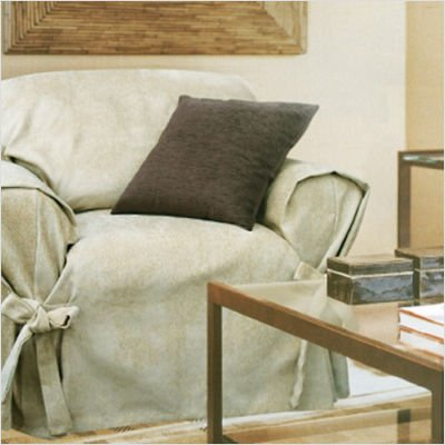Mozart Loosefit Chair Skirted Slipcover Color: Taupe