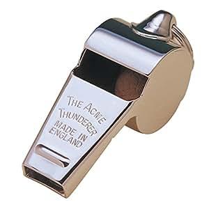 Acme Thunderer Whistle 60.5, Small, High, Loud, Metallic Silver