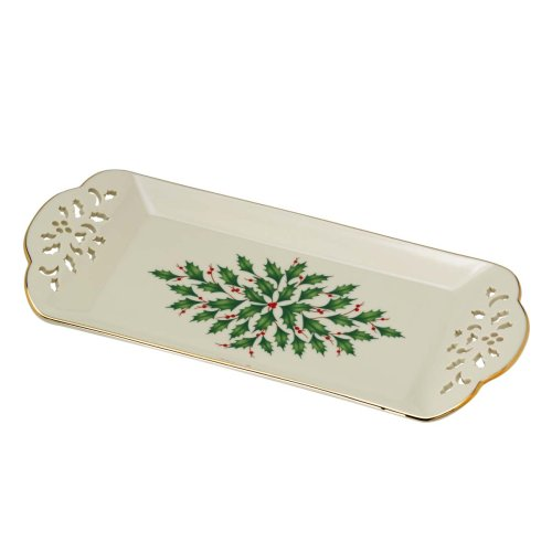 Lenox Holiday Pierced Tidbit - Holiday Tray Tidbit