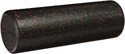 AmazonBasics High-Density Round Foam Roller | 18-inches, Red Speckled