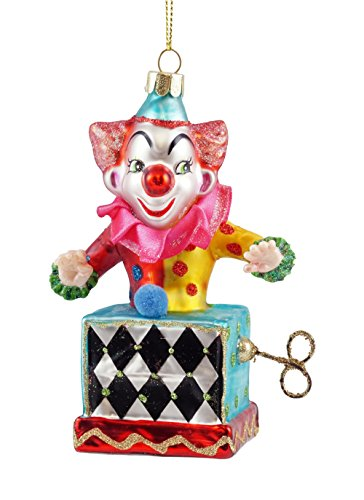 Midwest-CBK Jack in the Box Clown Hanging Christmas (Clown Glass Ornament)