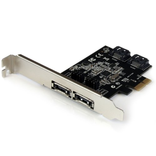 StarTech.com 2 Port PCI Express SATA 6 Gbps eSATA Controller Card - Dual Port ...