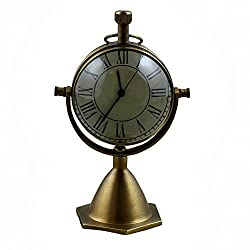 Decorative Desk & Shelf Clocks Vintage Style, 4.5 Inches for Office, Home & Kitchen