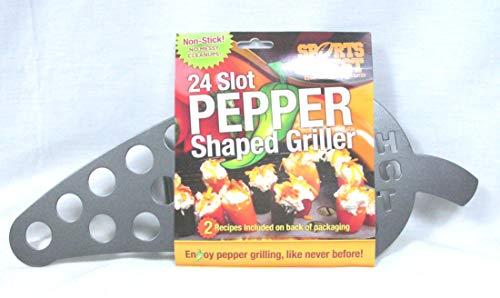 SportsChest Stainless Steel 24-Slot Jalapeno Pepper Roasting Rack
