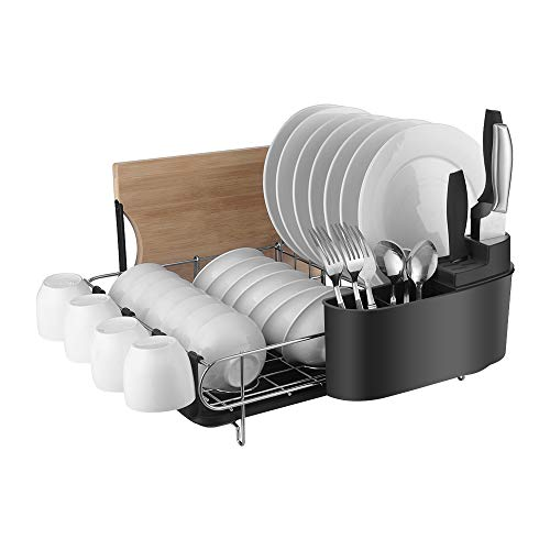 HOMELODY Dish Rack, 2 Tier Dish Rack With Drain...