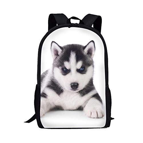 Husky School Backpacks Dog Printing for Elementary Students Casual Daypack