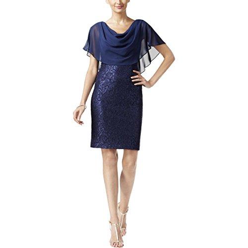 Drape Neck Sheath Dress - 2