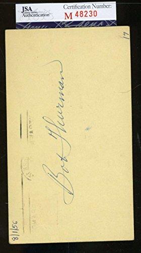 BOB THURMAN 1956 SIGNED JSA GPC GOVERNMENT POSTCARD AUTHENTIC AUTOGRAPH