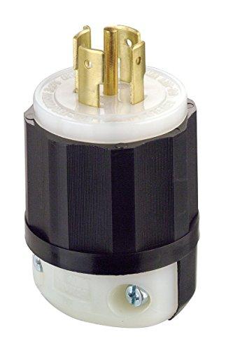 (Leviton 2511 20 Amp, 120/208 Volt 3PY, NEMA L21-20P, 4P, 5W, Locking Plug, Industrial Grade, Grounding -)
