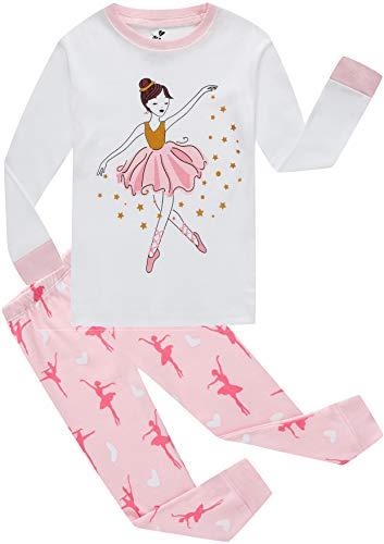 Girls Pajamas Christmas Dance PJS 2 Piece Set 100% Cotton Children Sleepwear Toddle Gift
