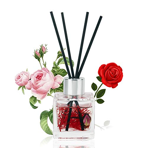 Reed Diffuser Rose Home Fragrance Oil Reed Diffuser Set with Diffuser Stick Effectively Releases Pressure and Brings Fresh air Suitable for Bedroom Living Room Bathroom etc