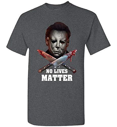 STONSTAIN Michael Myers No Lives Matter T-Shirt Dark Heather