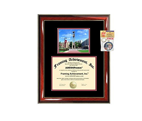 (Temple University Diploma Frame Graduation Degree Frames Double Matted College Framing Campus Photo Graduation Gift Temple Degree Certificate Collegiate Document Holder)