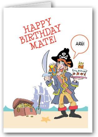 Amazon.com: Piratas tarjeta de cumpleaños pack – 12 tarjetas ...