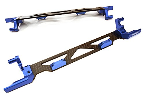 Integy RC Model Hop-ups C26878BLUE Machined Alloy & Composite Battery Hold-Down Plate for Traxxas X-Maxx 4X4 - Battery Hold Down Plate