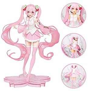 YEKKU Action Figure Model Hatsune Miku Anime Figure Statue Cute Hatsune Girl Figure Model Girl Doll Toy Anime Figure…
