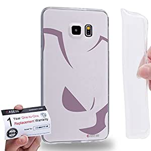 Case88 [Samsung Galaxy S6 Edge Plus] Gel TPU Carcasa/Funda & Tarjeta de garantía - Pokemon Mewtwo 0821