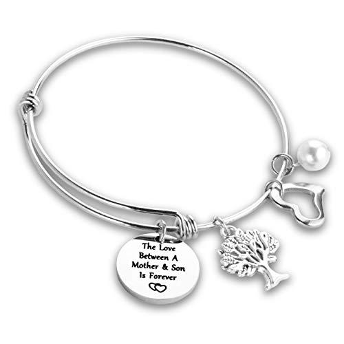 To Mom Bracelet from Son Mother Son Charm Bracelets for Women Bracelets for Mum Jewelry