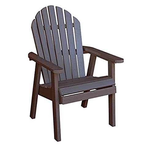 Highwood Hamilton Deck Chair, Weathered Acorn - Classic Collection Adirondack Deck Chair