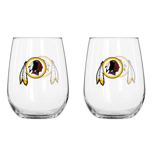 (NFL Washington Redskins Curved Beverage Glass, 16-ounce, 2-Pack)