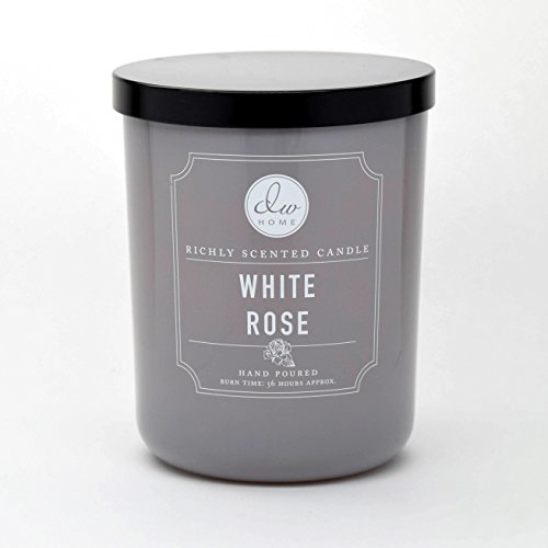 (DW Home Large Double Wick Candle, White Rose)