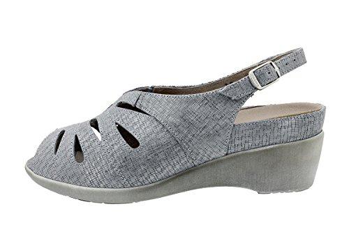 Sandales À Amovible Chaussure 180154 Semelle Gris Femme Confort Piesanto Grecia 4dRwTqn4