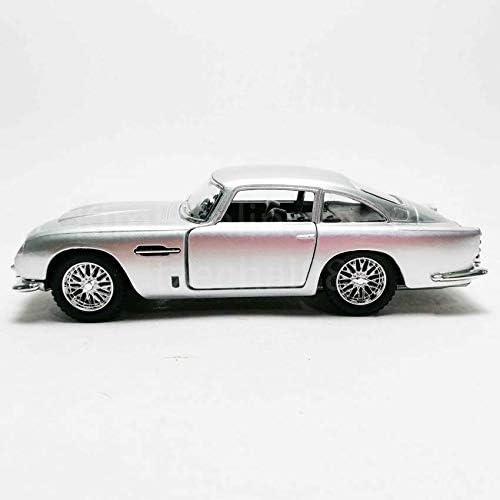 Kinsmart Diecast 1 38 1963 Aston Martin Db5 Silver Friction Motor Opening Doors Contemporary Manufacture Cars Trucks Vans