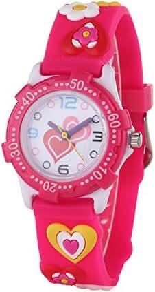 SKNBC 10M waterproof 3D watch Time Teacher Young Little Girls Kids Watches Children Watches Benevolence