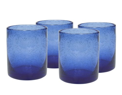 Buy vintage blue glasses juice