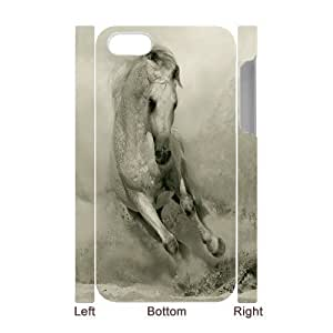 3D Bumper Plastic Case Of Horse customized case For Iphone 4/4s