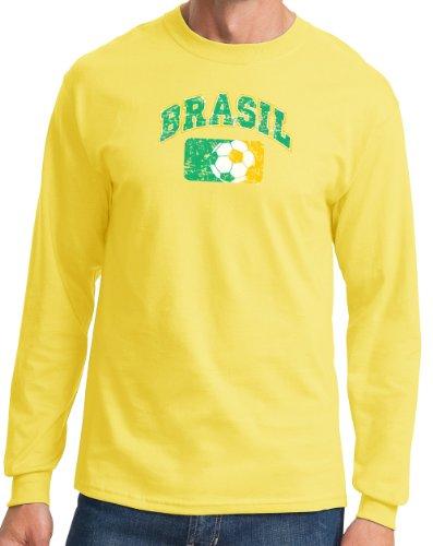 Brasil Brazil Adult Long Sleeve Soccer T - Brazil Soccer Ronaldinho Shopping Results