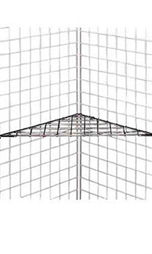 Triangle Chrome Wire Grid Shelf - 24