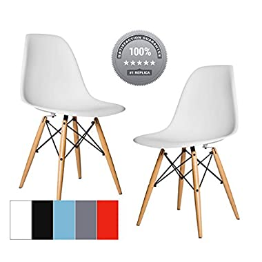 Chelsea DSW Molded Plastic Dining Side Chairs (Set of 2) (White, DSW Side Chair)