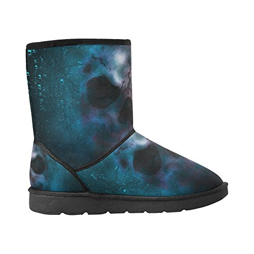 InterestPrint LEINTEREST Shoes LEINTEREST Boots For Fashion InterestPrint Men Snow skull FFq1WgUr