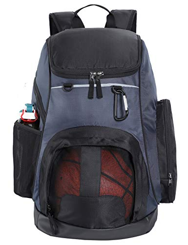 MIER Large Sports Backpack w/Pocket for Swim, Outdoor, Gym, Basketball, 40L, Blue