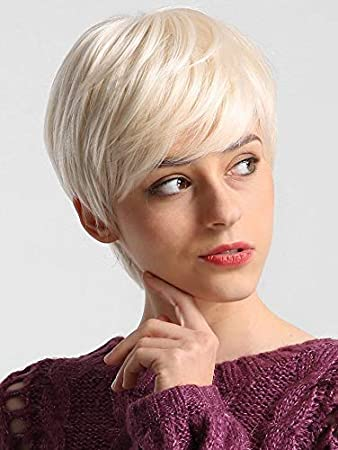 Amazon Com Naseily Short Blonde Haircuts For Women Natural Synthetic Short Hair Wigs For Black White Women Blonde Short Hairstyles Beauty