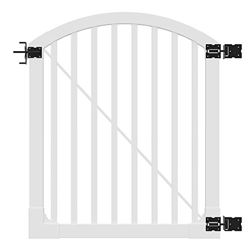 WamBam Traditional 4 by 4-Feet Premium Vinyl Yard and Pool Gate with Powder Coated Stainless Steel Hardware