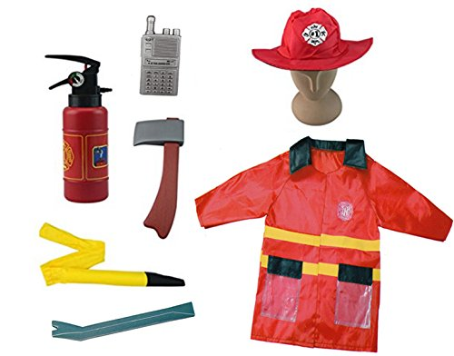 Fire Chief Kids Costumes (Firefighter Kids Fire Chief Role Play Costume Set (7 Pcs))