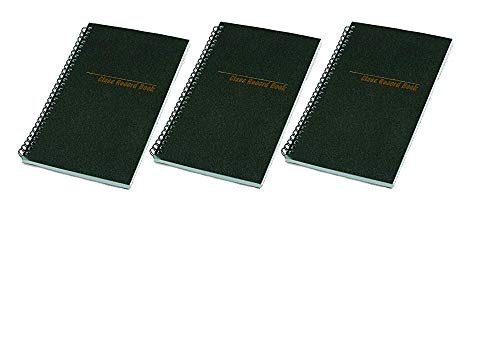 National 33990 Class Record Book, 6-Day/6-Week Format, 9-1/2 x 5-3/4, Black, 120 Pages, Sold as 3pk
