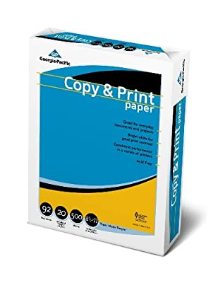 GP Copy & Print Paper, 8.5 x 11 Inches Letter Size, 92 Bright White, 20 Lb, Ream of 500 Sheets (998067R), 3-pack