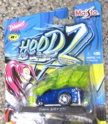 Hoodz Subaru WRX STI, Blue: Maisto 1/24 Scale Die Cast Vehicle, 2004