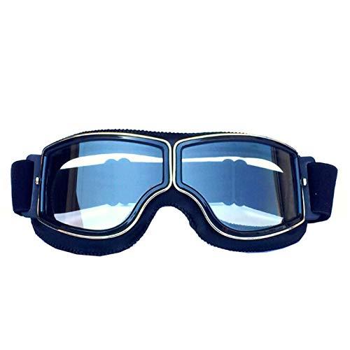 Adisaer Sport Brille Herren Retro Helmet Goggles Off-Road Motorcycle Goggles Black Clear for Mens (Retro Brillen Herren)